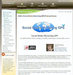 AMA Podcast Series: Social Media Marketing GPS