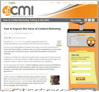 The Value of Content Marketing: How Do You Explain It?
