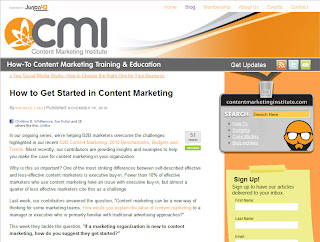 Getting Started In Content Marketing