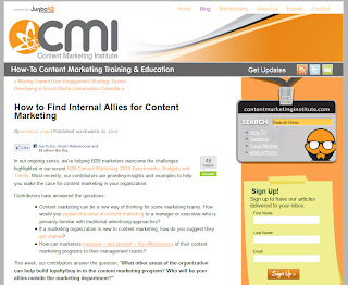 Finding Internal Content Marketing Allies