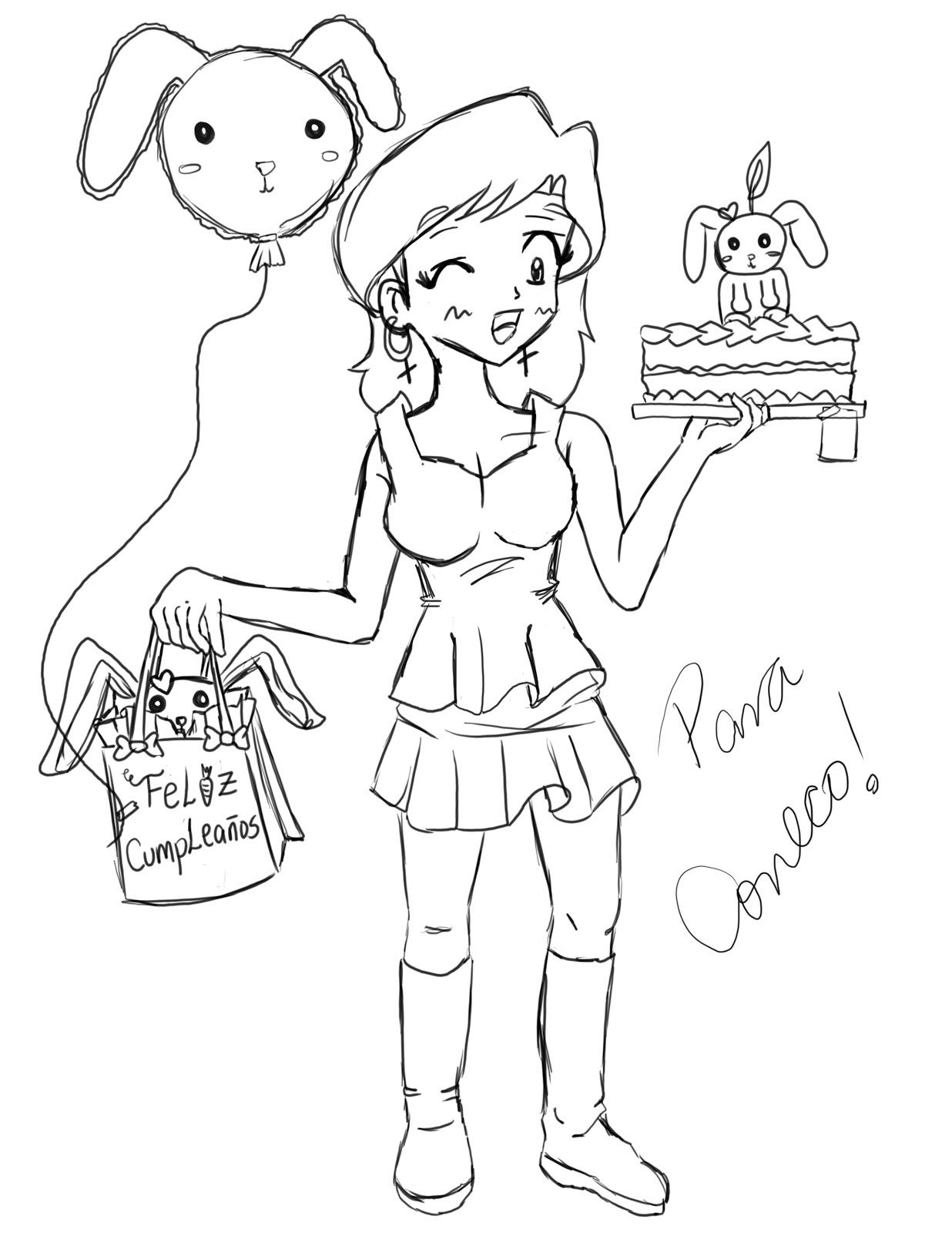 Luna Fantasy, Mi Blog de Garabatos: FELIZ CUMPLEAÑOS FLOR! (CONECO)~