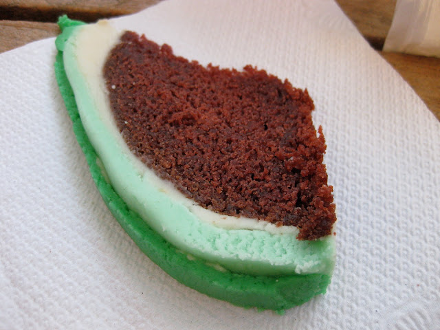 slice of watermelon cake, a watermelon-shaped cake