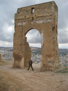 The Roman ruins over looking the Fes Medina