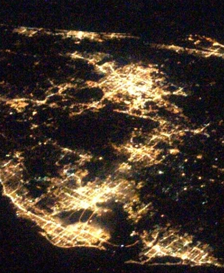 The Home Office Window: From Space: Florida at Night | 461 x 563 png 489kB