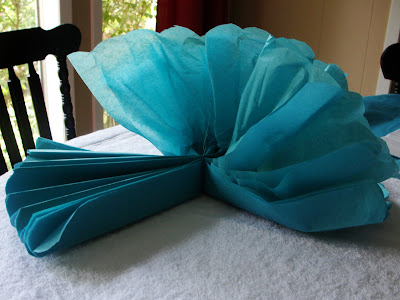 how to make tissue paper pom poms small