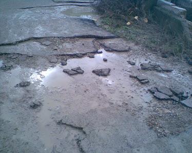 asfalto de La Altea