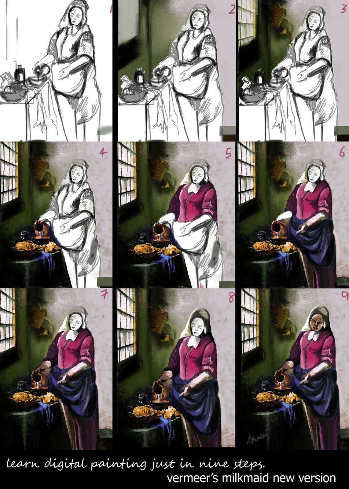 vermeer s milkmaid vs tucker s self portrait Johannes vermeer - the procuress, c 1656 – the figure on the left has been called vermeer's self portrait the procuress by vermeer, is an oil-on-canvas painting that's on display at the gemäldegalerie alte meister in dresden.