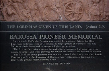 Barossa Pioneer Memorial at Mengler's Hill