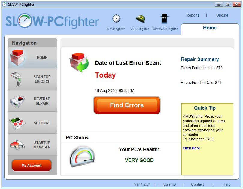 Slow-PCfighter 1.2.61 Multi-language Software + Crack