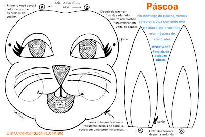 pascoa mascara Lembrancinhas e atividades para Páscoa para crianças