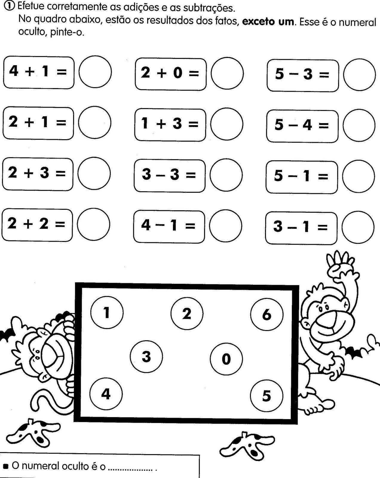 Muito Atividades Escolares Lúdicas: Atividades variadas de matemática  WR75