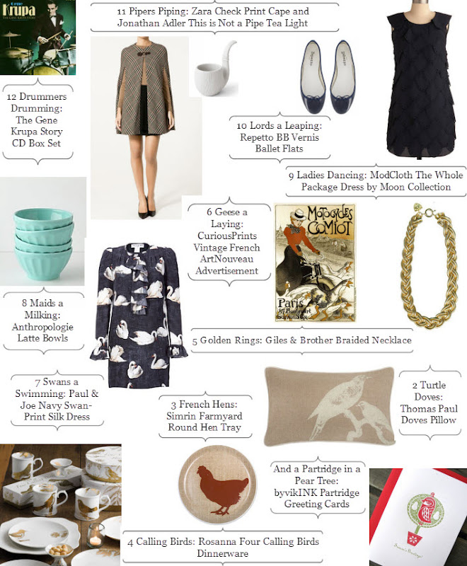 12 days of christmas and french gift ideas