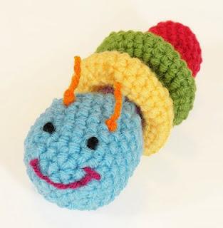 PATTERN FOR CROCHETED CATERPILLAR | Easy Crochet Patterns