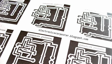 circuito impresión acetato
