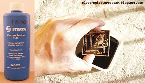 cloruro férrico rebajar cobre circuito impreso