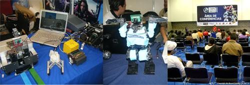 Conferencias, robots y talleres en la expo robótica 2009