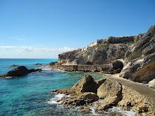 Coast of Isla Mujeres (Island of Women) in Mexico