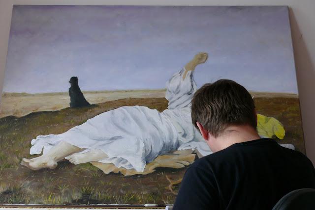 Reprodukcjia obrazu olejnego babie lato, malowanie obrazów olejnych na zamówienie, renowacja obrazu olejnego