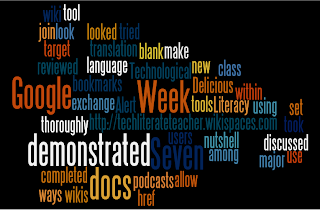 Wordle of Week 7 Text