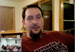 image of Mr. Chamberlain from Skype Session