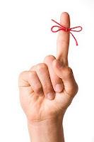 string on finger reminder