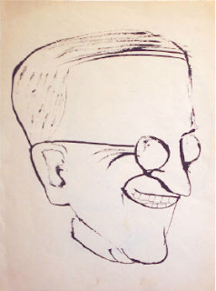 Harry Truman, drawing by Ben Shahn about 1948