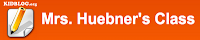 Mrs. Huebner's Class Blog Logo
