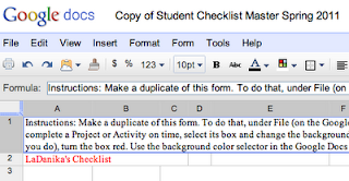 Checklist Example