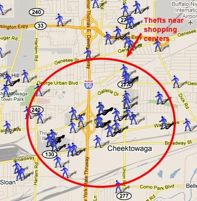 Cheektowaga NY Crime Map SpotCrime The Publics Crime Map