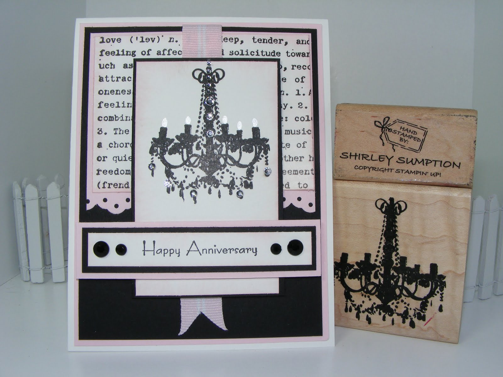 Cute stuff by shirley pink and black chandelier card pink and black what a great color combo we made this card at my oldies but goodies party everyone loved it i bought this chandelier stamp arubaitofo Gallery