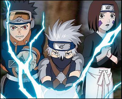 Naruto y Sasuke con sus respectivas transformaciones
