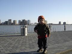 Little man at the Detroit River