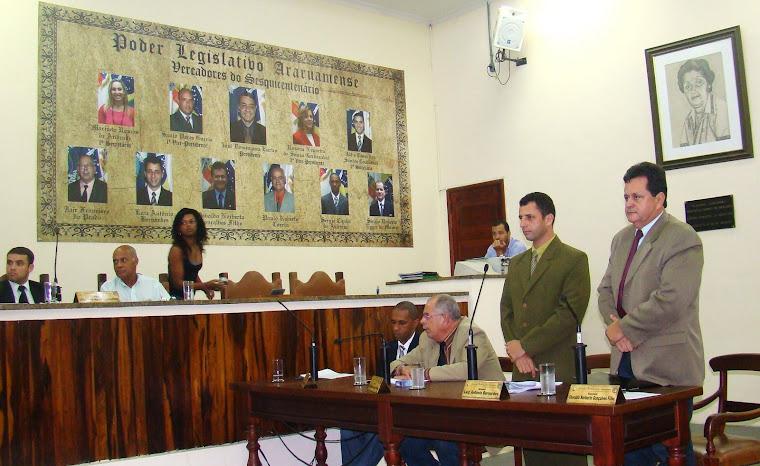 Votação do projeto de lei que transfere dinheiro da Prefeitura de Araruama para entidades de fora