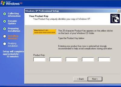 Get Windows XP key from Installer CD itself !!! - Tech Quark