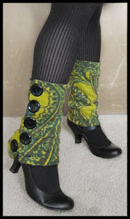 Paisley Buttoned Spats