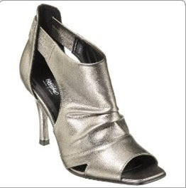 Mossimo Valentina Peep Toe Booties Dark Pewter