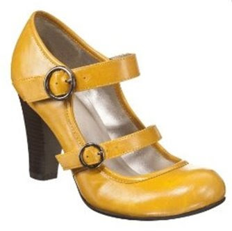 Xhilaration Stasya Mary Jane Pumps Mustard