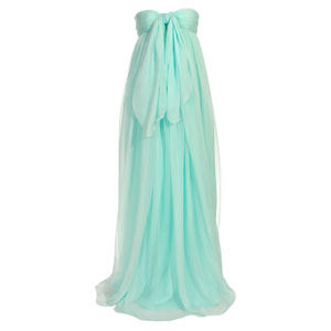 Giambattista Valli Strapless Long Chiffon Dress
