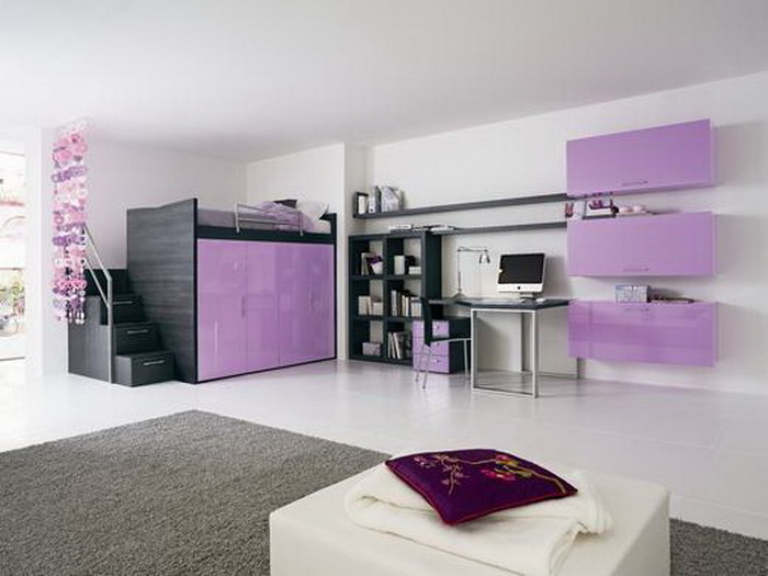 Girls Loft Bed Bedroom Ideas