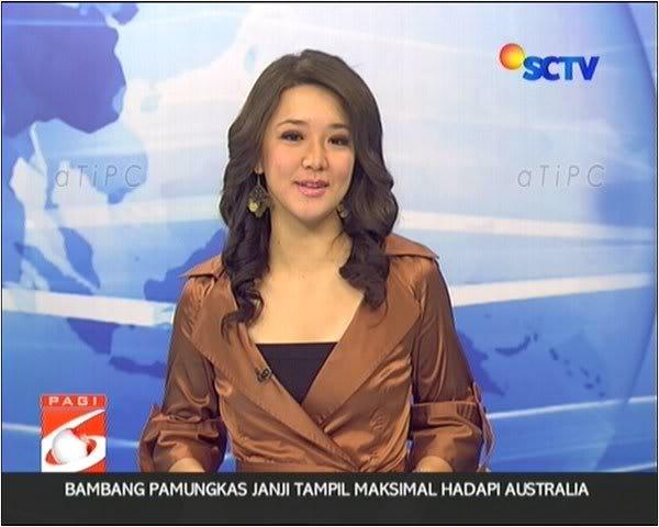 Photo poto foto: foto louisa kusnandar pembawa berita sctv