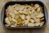 Apples baking tray