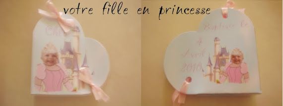 boite forme coeur trucage  princesse