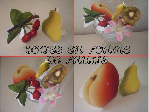 boite en forme de fruits