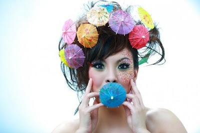 fashion accessories , hair accessories, Beautiful Female Model with Cool Accessories in Female Photography