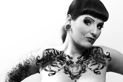 Black and White Female Photography, Tattoo Black and White Female Photography