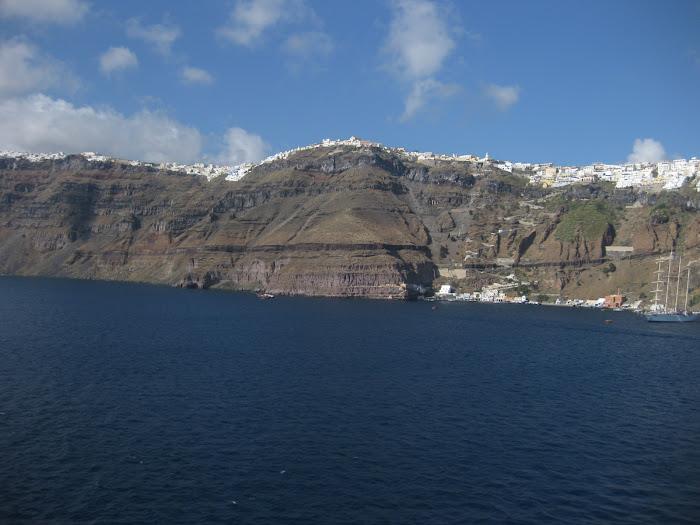 Santorini, en medio del volcán