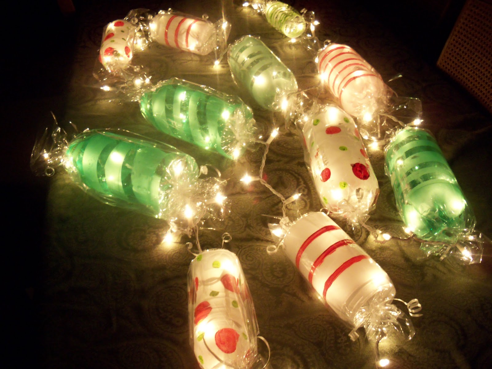 Go Green Art Peppermint Christmas Garland