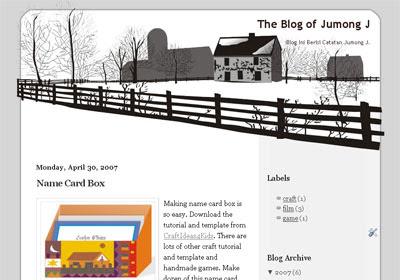 sweet home blogspot template