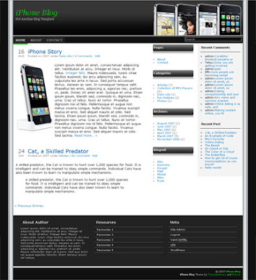 iPhone free blogger template
