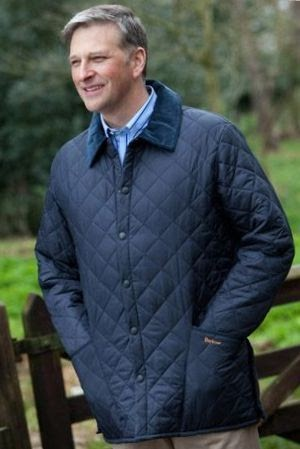 Admiral Cod: Barbour Liddesdale : quilted jacket over suit - Adamdwight.com